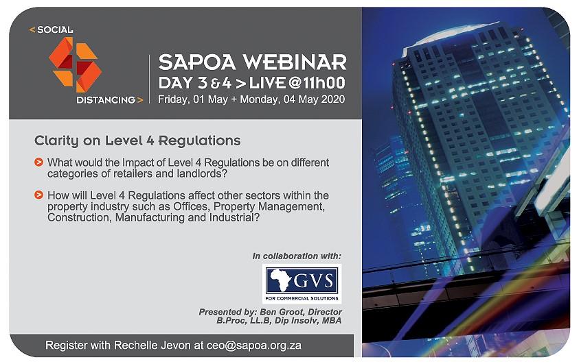 SAPOA/GVS Law Webinar - Clarity on Level 4 Regulations