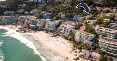 1st Beach, Clifton, - the business zoned site on auction for the proposed hotel.