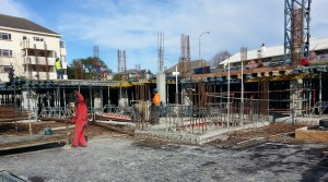 View of construction on site of Pam Golding on Main in Kenilworth, Cape Town