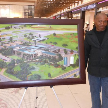 """Philmon Talane, one of the winners of Middelburg Mall's popular """"My Middelburg My Region Art competition"""". He has been commissioned to do a public art installation as part of the mall's R200 million second phase expansion."""