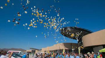 School children were amongst the throngs of people to descend on The Grove Mall of Namibia's opening day on Thursday, 23 October 2014. The new R1 billion regional shopping centre is the largest development of its kind in Namibia, spanning 55,000sqm.