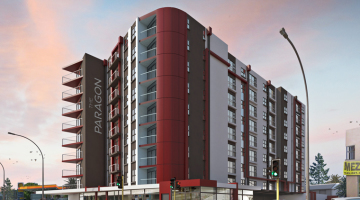 "An artist's impression of Rawson Developer's upcoming sectional title scheme, ""The Paragon"", in Observatory."