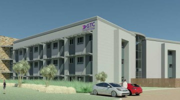 Artist's impression showing the exterior of Grant Thornton Johannesburg's refurbished head office in Illovo.
