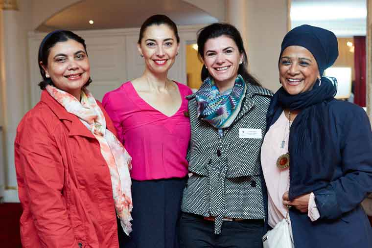 Abdullah Ebrahim [Oasis Group], Jewel Harris and Renee English [Growthpoint] and Faizah Behardien [Paarl Mall]