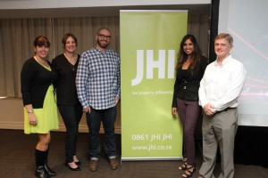Kelly Charmichael [JHI], Marina Greaves and Chris Gough Palmer [The New Black], Nazrana Premlall [Growthpoint] and Rob Moran [JHI]