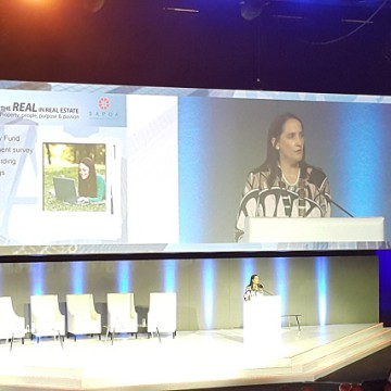 SAPOA President Amelia Beattie highlights the organisation's achievements at Convention