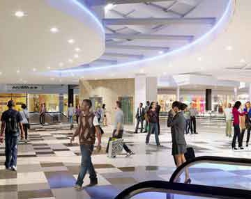 Menlyn Park's Grocery Avenue features the latest in store design for Checkers Hyper, Food Lovers Market, Pick n Pay and New World Discount Store