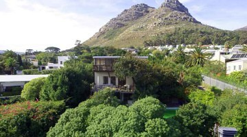 Aerial view of Hout Bay home