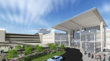 Artist impression of the new look entrance 2