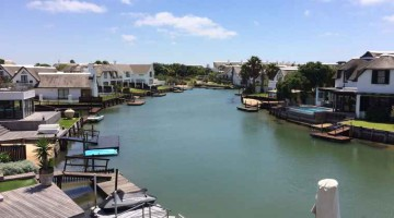 St Francis Bay, scenic view along the canal