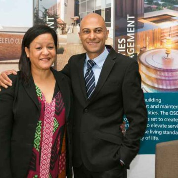 Helen Botes CEO of Joburg Property Company with Neil Gopal CEO of SAPOA