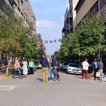 A hive of activity in Maboneng.