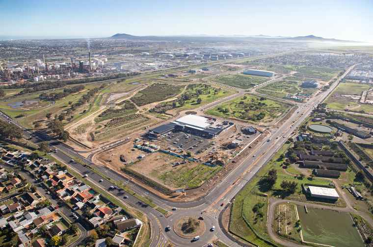Aerial view of the Richmond Park mixed-use development in Milnerton, Cape Town.
