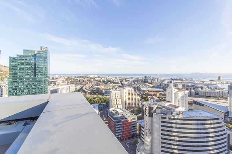 The view of Cape Town's CBD from 35 Lower Long (image credit: Abland).