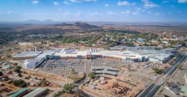 An aerial view of Musina Mall.