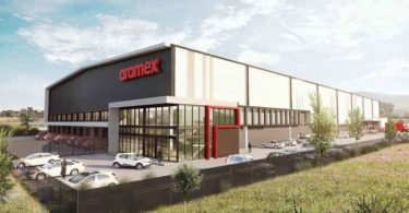 An artist impression of the Aramex building.