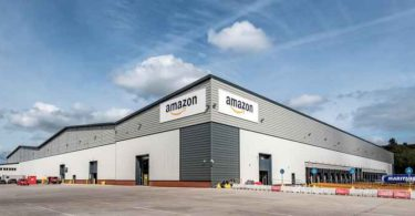 The Amazon distribution centre in Stoke-on-trent, England.
