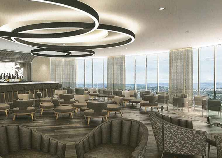 A rendering of the Destiny Hotel & Convention Centre Sky Bar and Lounge.
