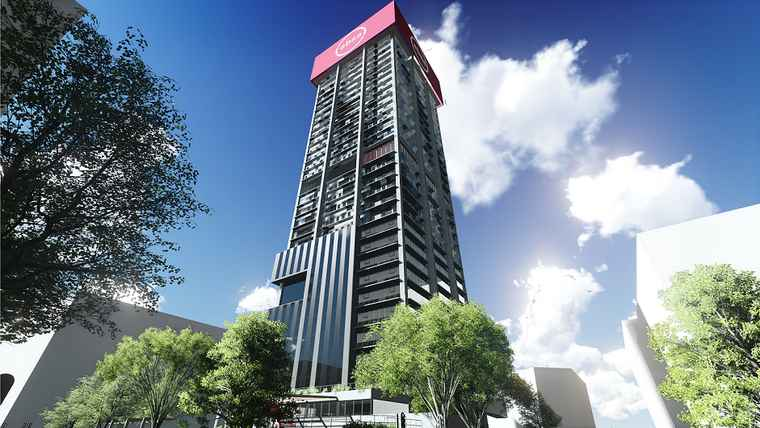 A architectural rendering of the Towers Main in Johannesburg's Absa Precinct.
