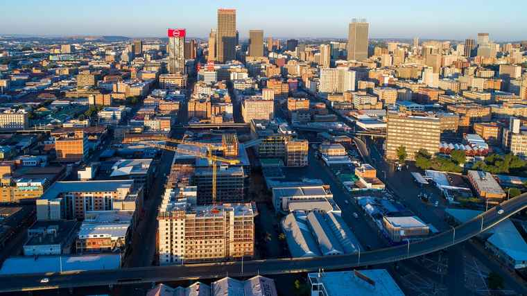 A Aerial view of Jewel City in Johannesburg central.