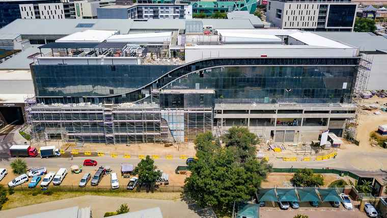 The Growthpoint – Cintocare hospital in Pretoria's green precinct of Menlyn Maine which is still on track for completion in the final quarter of 2020.