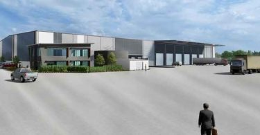 A render of the industrial facility in Brendale, Brisbane.