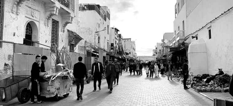 When streets are for people not cars, Essaouria, Morocco.