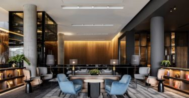 The Greatroom Lobby at Johannesburg's Marriott Hotel Melrose Arch.