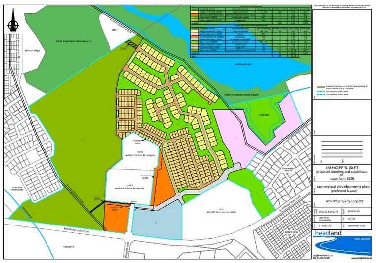 The Cape Farm 1529 preferred layout.