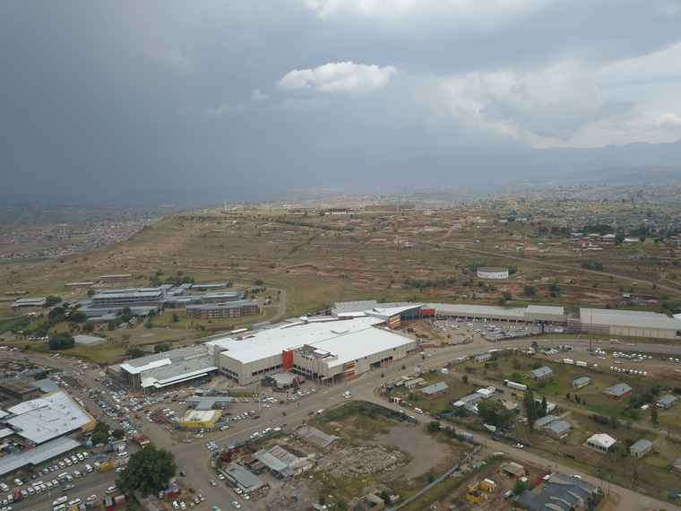 A aerial view of the new Maluti Crescent shopping centre extension.