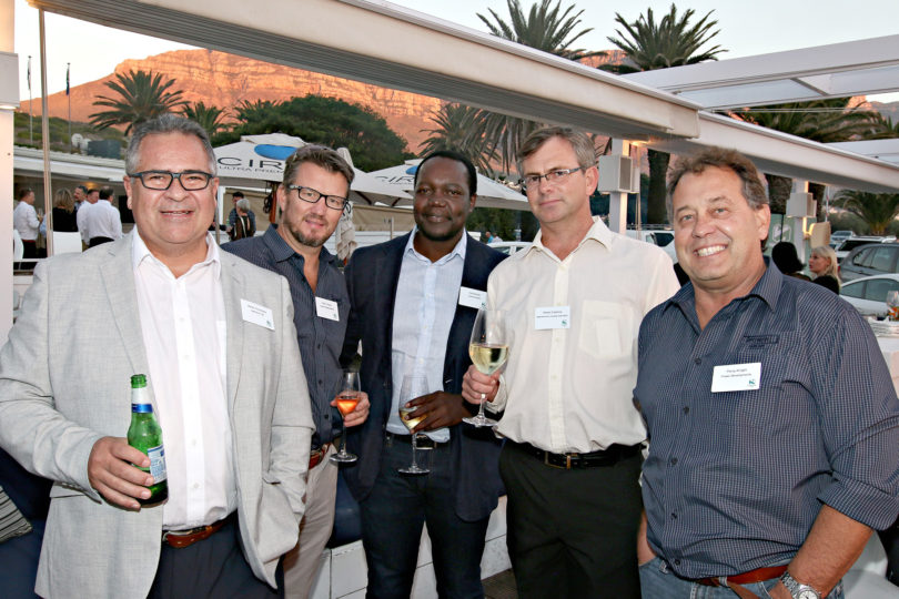 Manie Annandale (Nedbank CIB), Nick Ferreira (Power Developments), Vusi Nondo (Communicare), Renier Erasmus (Modulammoho Developments), Percy Knight (Power Developments)