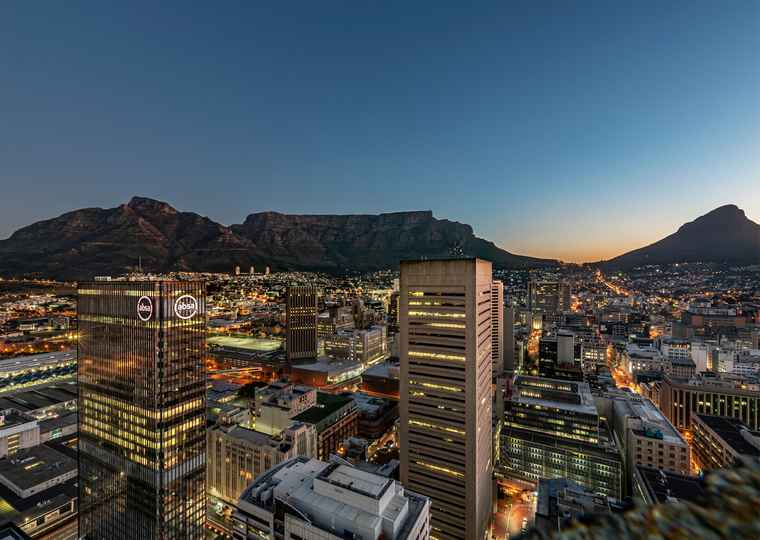 The view of Table Mountain from One Thibault.