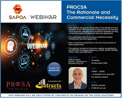 SAPOA Webinar: PROCSA The Rationale and Commercial Necessity