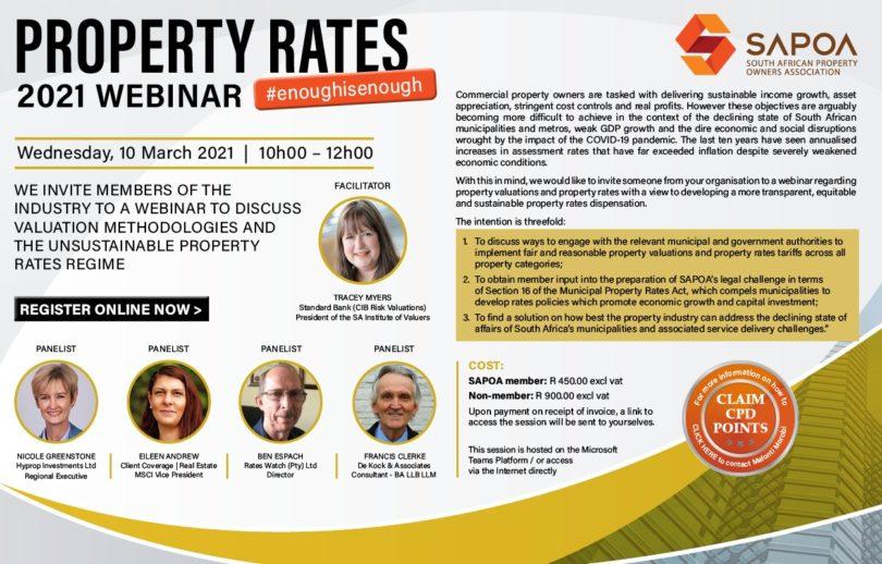 SAPOA Property Rates Webinar
