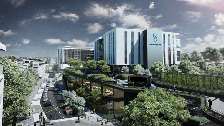 A artist's impression of Sandton Gate.