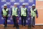 The sod turning ceremony at Daveyton Mall.