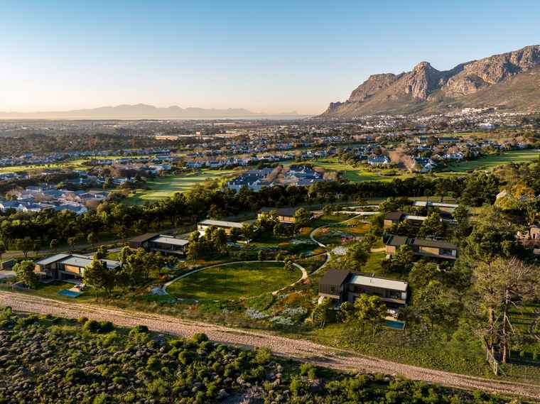 A aerial view of Steenberg in Cape Town.