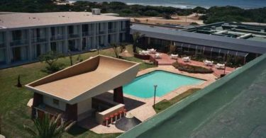 An aerial view of Summerstrand Student Village.