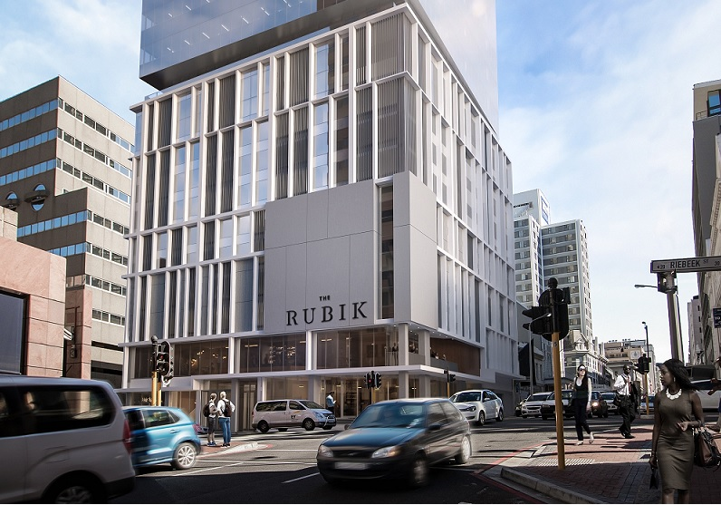 A artist's impression of The Rubik in Cape Town's CBD.