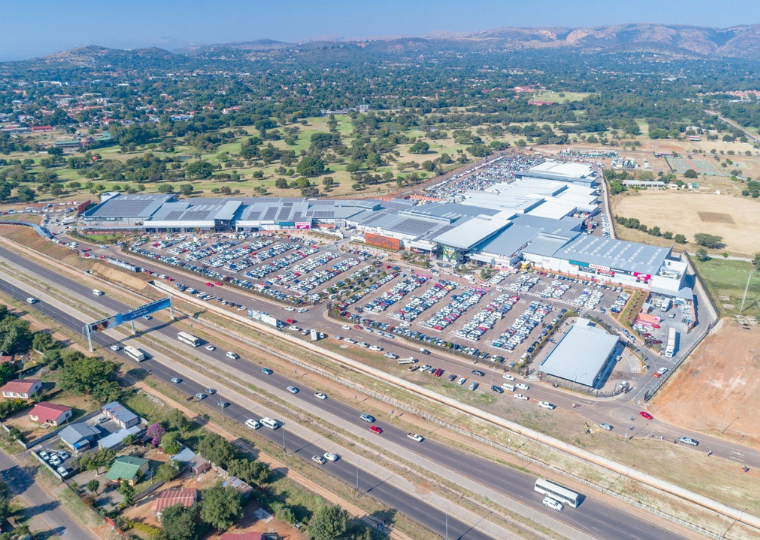 An aerial view of Rustenburg Mall.