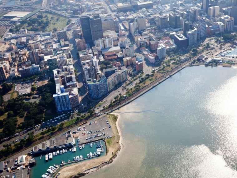 An aerial view of Durban's CBD.