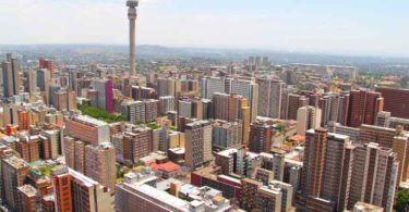 A view of Johannesburg's skyline.