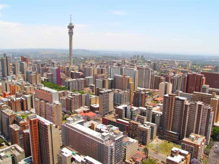 A view of Johannesburg's skyline.