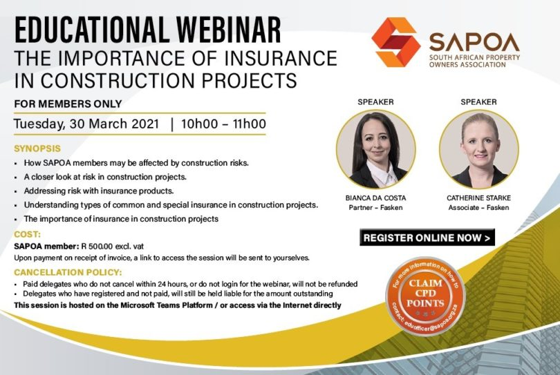 Webinar Importance of Insurance Construction Projects