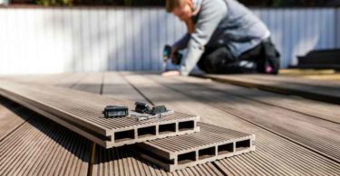 Wood composite decking.