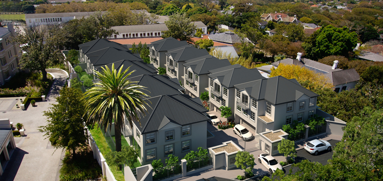 Artist rendering of aerial view of Mona Crescent, Newands