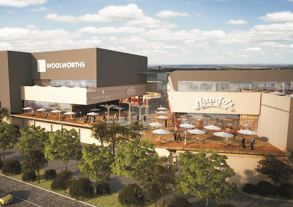 Artist rendering of Mall of Namibia - The Grove in Windhoek