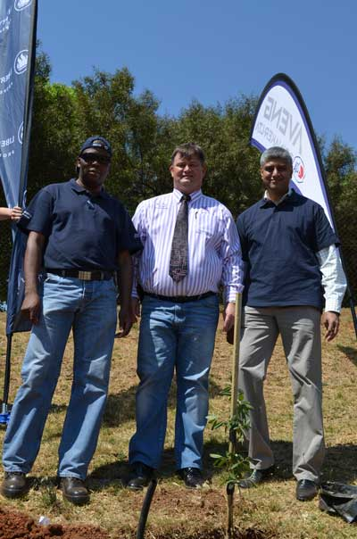 From left to right – Esrom Phaka – Aveng Grinaker; Josua Du Plessis – Elandspark School; Vinesh Lalloo – Liberty Properties