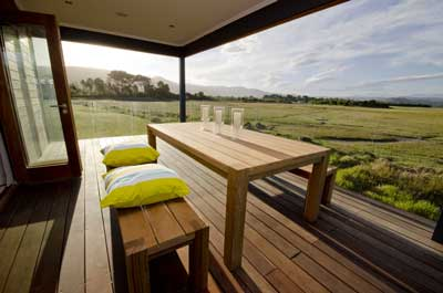 Scenic view from the completed showhouse at Brenton on Lake Holiday Resort