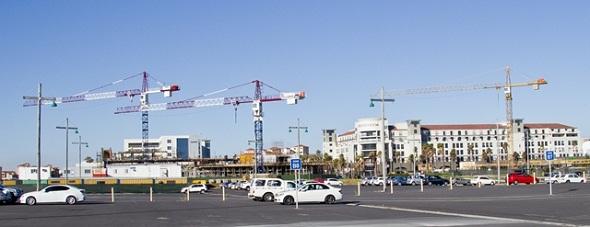 Century City Bridgeway Cranes